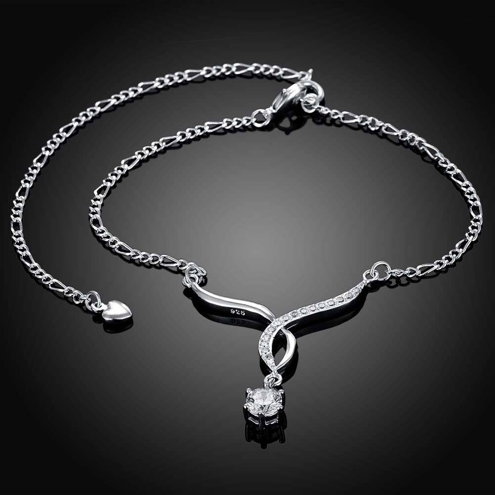 Red Nymph Silver Plated Alloy Anklet with Zircon Seagull shape Pendant |  Fashion Accessories, wedding rings and fashion jewellery